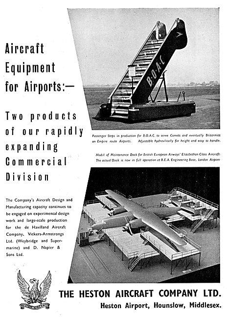 Heston Aircraft : Passenger Steps - Maintenance Docks