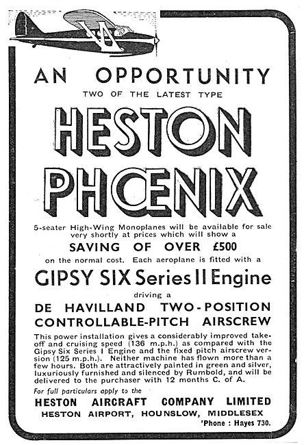 Heston Phoenix 1938