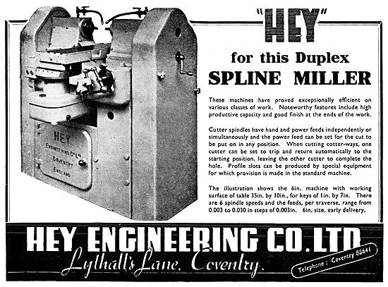 Hey Engineering Duplex Spline Miller