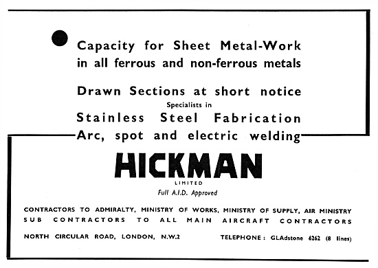 Hickman Aircraft Sheet Metal Work & General Engineering