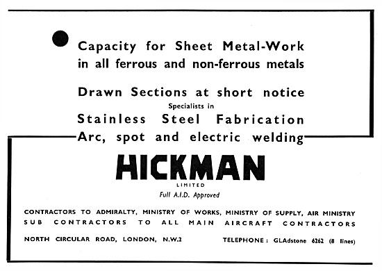 Hickman Aircraft Sheet Metal Work & General Engineering