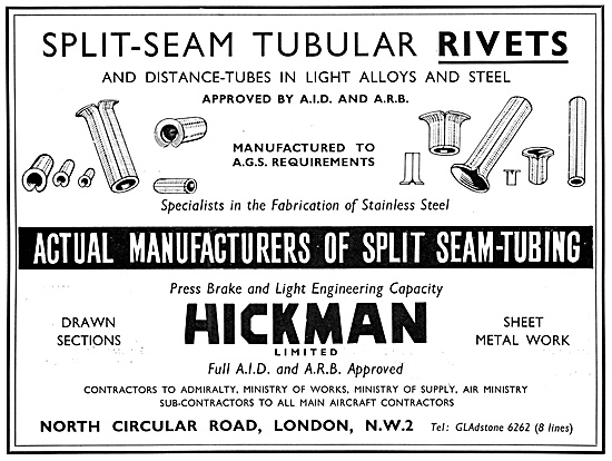Hickman Tubular Rivets