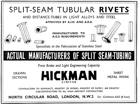 Hickman Rivets,Sheet Metalwork & Stainless Steel Fabrications.