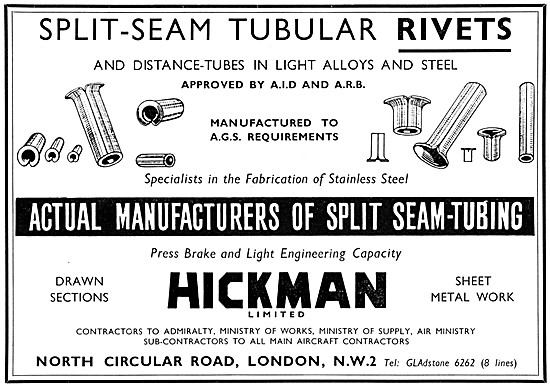 Hickman Split-Seam Tubular Rivets - Hickman AGS