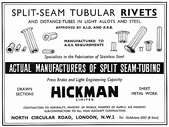 Hickman Split Seam Tubular Rivets