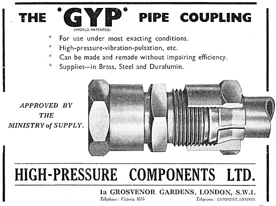 High Pressure Components GYP Pipe Couplings