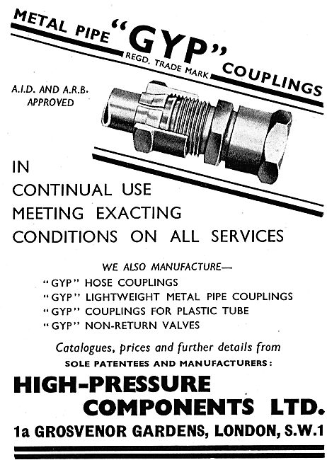 High Pressure Components - GYP Couplings