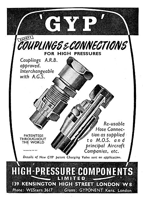 High Pressure Components GYP Couplings & Connections.