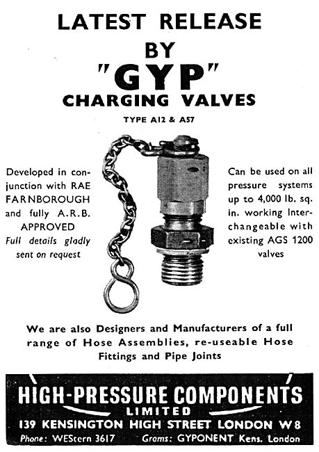 High Pressure Components - GYP Charging Valves