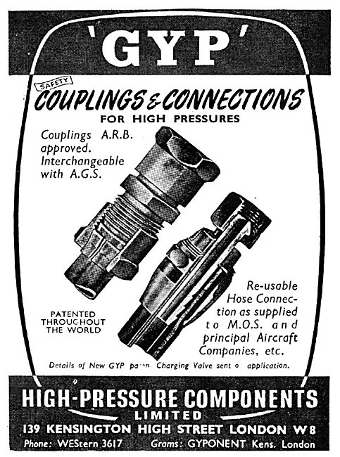 High Pressure Components - GYP Couplings & Connectors