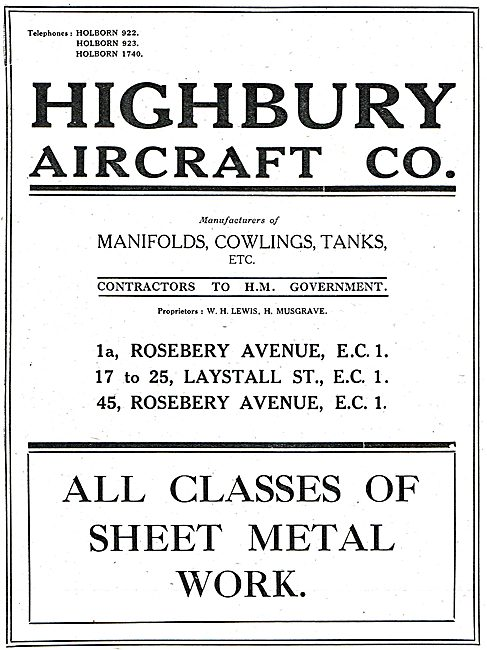 Highbury Aircraft - Aeronautical Sheet Metalworkers