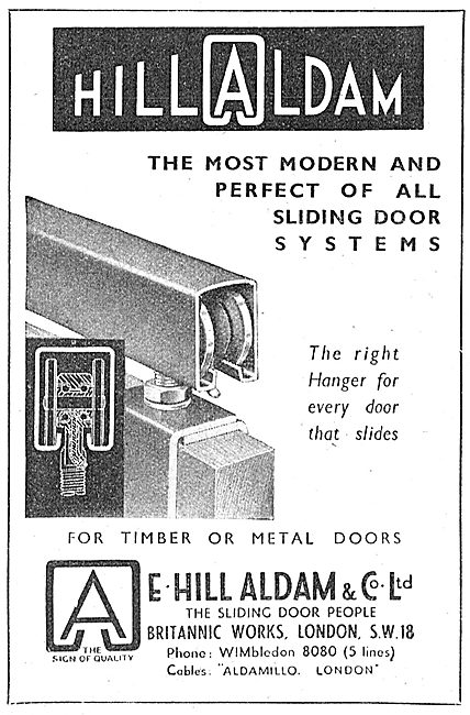 E.Hill Aldam Industrial Sliding Door Systems 1943
