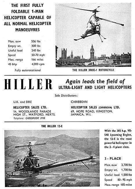 Hiller XROE-1 Rotorcycle - Hiller 12-E