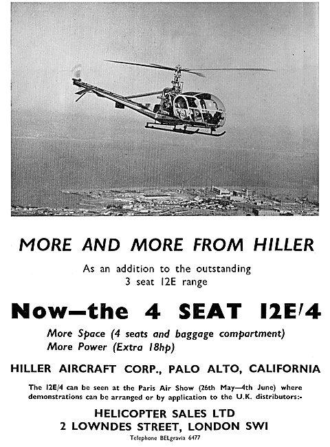 Hiller 12E: Sole Distributors Helicopter Sales Ltd