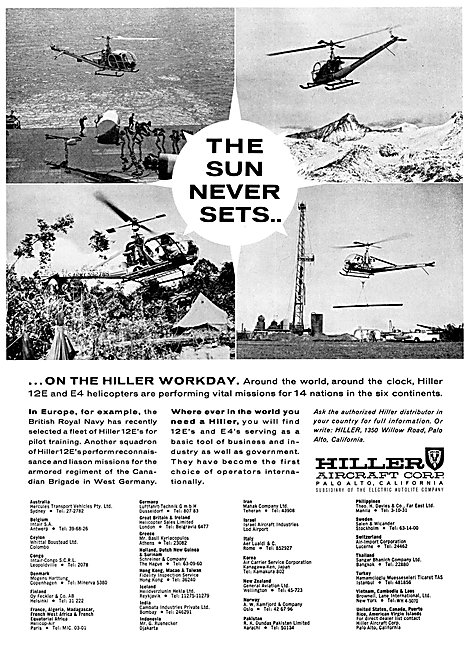 Hiller Helicopters 1962 - Hiller 12E