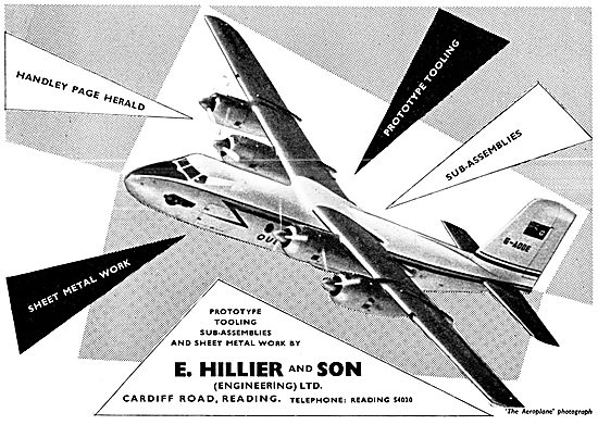 Hillier & Son Reading. Aircraft Engineers. Sheet Metal Work