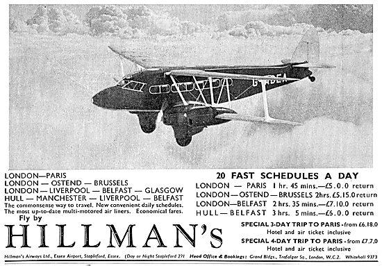 Hillmans Airways - 20 Fast Schedules Each Day