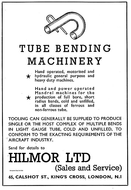 Hilmor Tube Bending Machinery For Aircraft Production