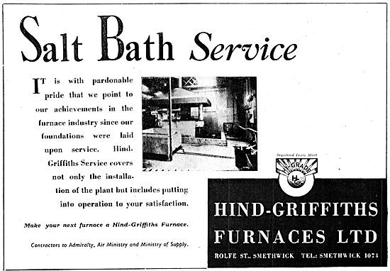 Hind-Griffiths Heat Treatment Furnaces - Salt Bath Service