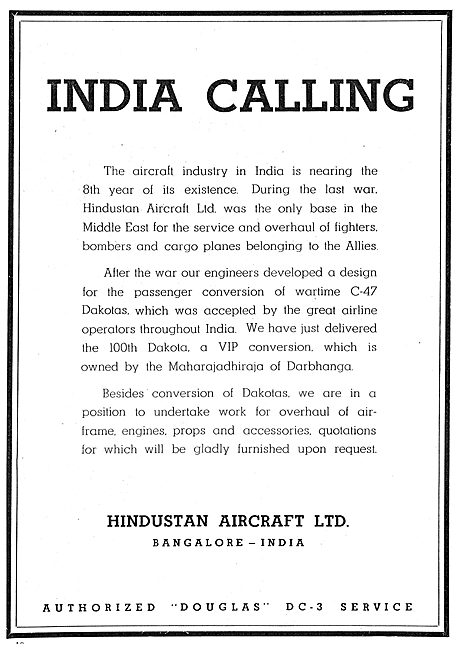 Hindustan Aircraft - Dakota Conversions