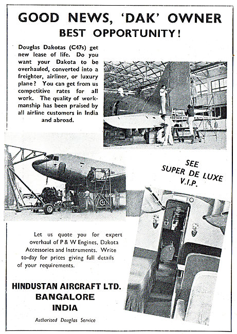 Hindustan Aircraft - Dakota Overhaul, Repair & Conversions