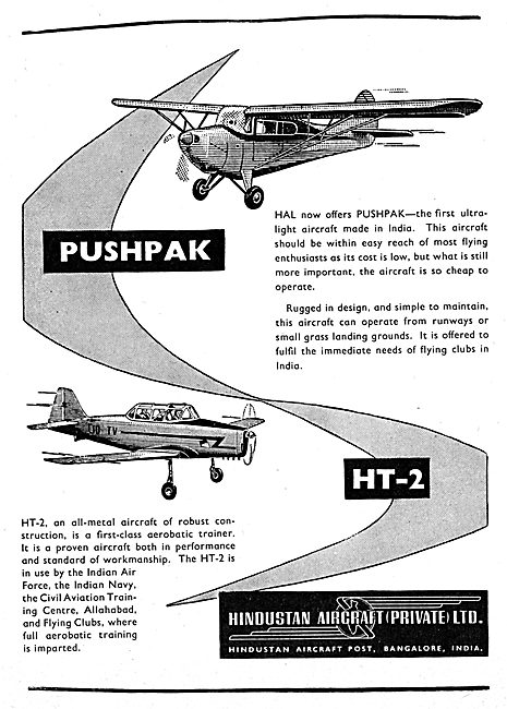 Hindustan Aircraft Pushpak - Hindustan HT-2