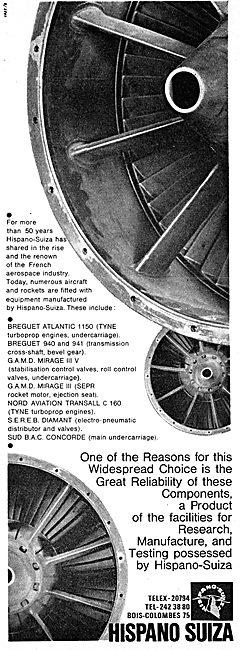 Hispano Suiza Aircraft Products