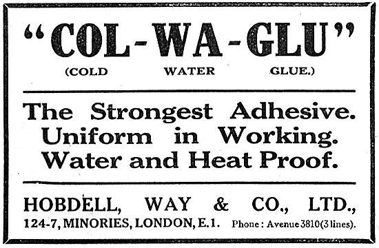 Hobdell, Way & Co - Col-Wa-Glu - Adhesives