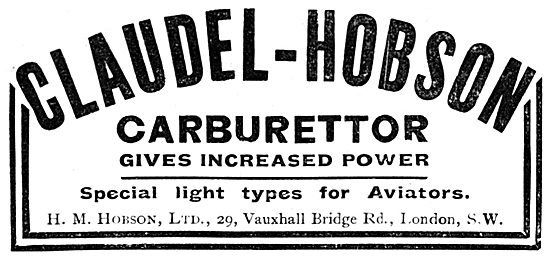 Claudel-Hobson Carburetters