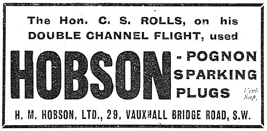 H M Hobson - Hobson-Pognon Sparking Plugs
