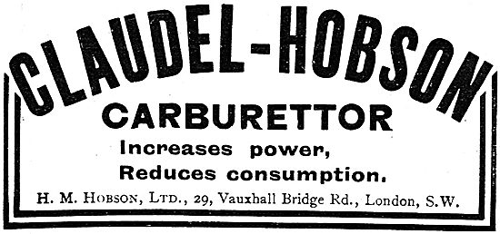 Claudel-Hobson Aeroplane Engine Carburettor