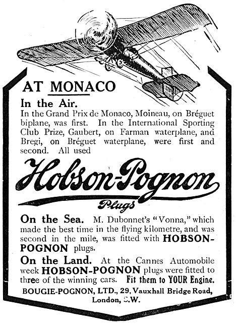 Hobson-Pognon Sparking Plugs
