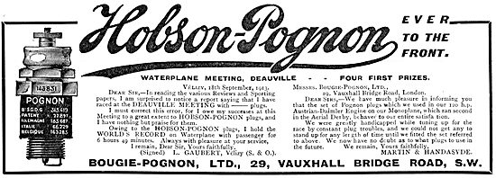 Hobson-Pognon Spark  Plugs