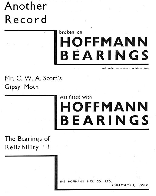 Another Aviation Record Broken On Hoffmann Bearings
