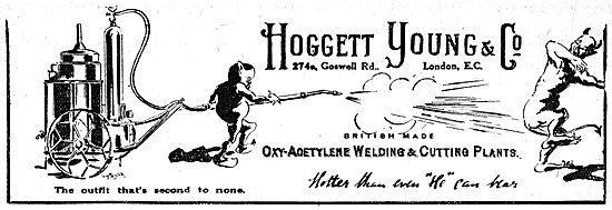 Hoggett Young Oxy-Acetylene Welding & Cutting Plants 1917 Advert