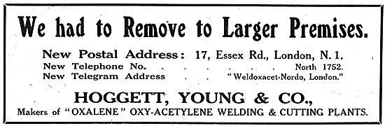 Hoggett Young Oxy-Acetylene Welding & Cutting Plants