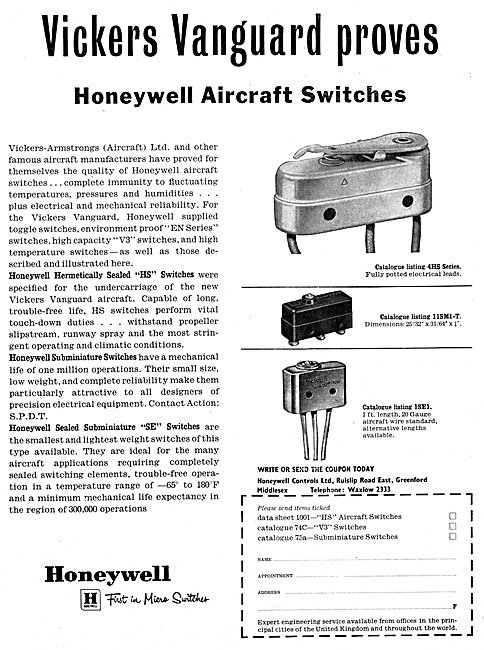Honeywell Aircraft Electrical Equipment 1959
