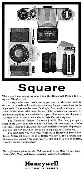 Honeywell Pentax H-3 Camera