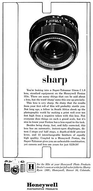 Honeywell Super-Takumar f1/8 Lens 1963 - Pentax