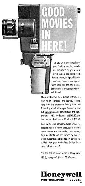 Honeywell Elmo 8mm Movie Cameras 1963