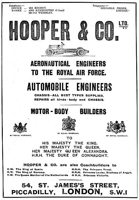 Hooper & Co. Aeronautical & Motor Engineers
