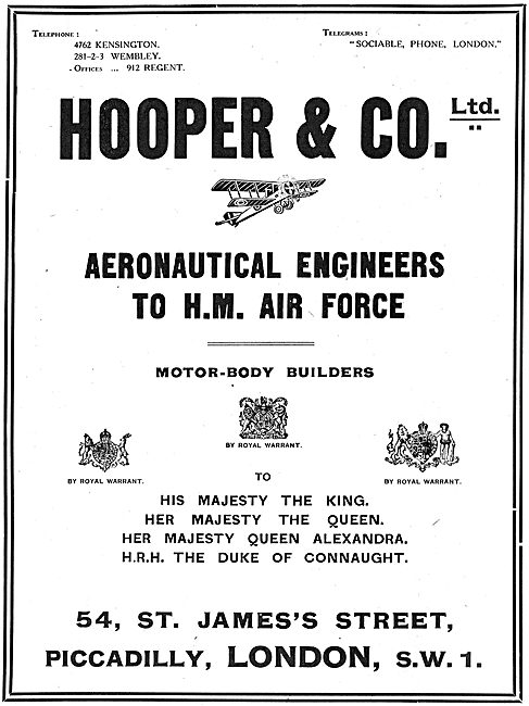 Hooper & Co - Coachbuilders & Aeronautical Engineers