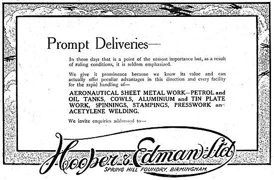 Hooper & Edman. - Aeronautical Sheet Metal Workers