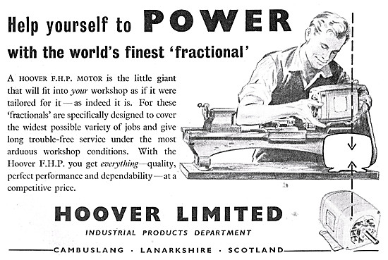 Hoover Fractional Electric Motors - Hoover FHP Motor
