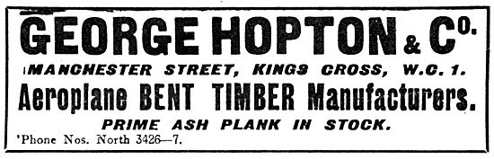 George Hopton & Co Wood Merchants - Bent Timber Manufacturers