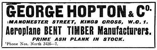 George Hopton & Co Wood Merchants - Bent Timber Manufacturers