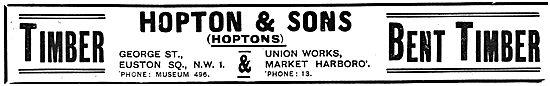Hopton & Sons Wood Merchants -  - Wooden Aer Parts & Bent Timber