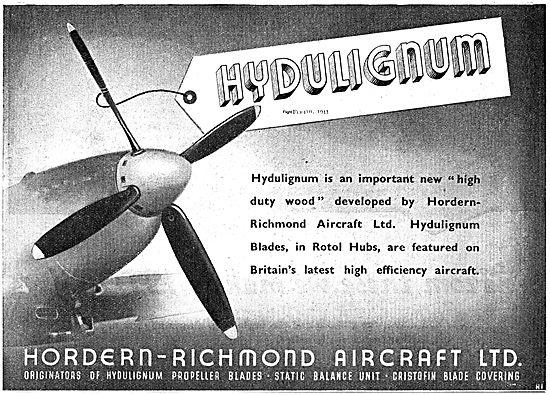 Hordern-Richmond. Hydulignum Hight Duty Wood For Aircraft