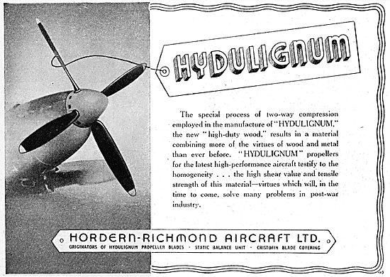 Hordern Richmond - Hydulignum Propeller Blades