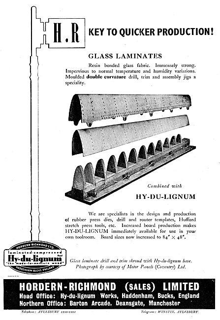 Hordern Richmond Hy-Du-Lignum Galss Laminates